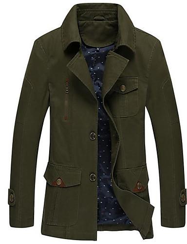 Herrn Solide Gestreift Retro Alltag Standard Jacke, Ständer Frühling Herbst Leinen Acryl Kalbsleder Druck