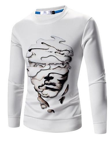 Herren Pullover Ausgehen Solide Gestreift Druck Hemdkragen Mikro-elastisch Baumwolle Acryl Polyester Lange Ärmel Frühling Herbst Winter