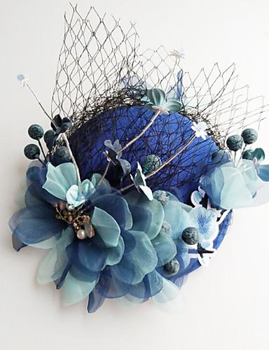 abordables Chapeau & coiffure-Tulle / Mousseline de soie / Dentelle Fascinators / Chapeaux / Pince à cheveux avec 1 Mariage / Occasion spéciale / Anniversaire Casque