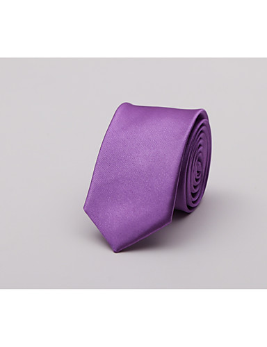 Men's Fashion Polyester Necktie - Solid Colored