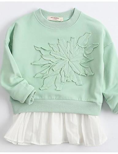 Mädchen Bluse Geometrisch Baumwolle Herbst