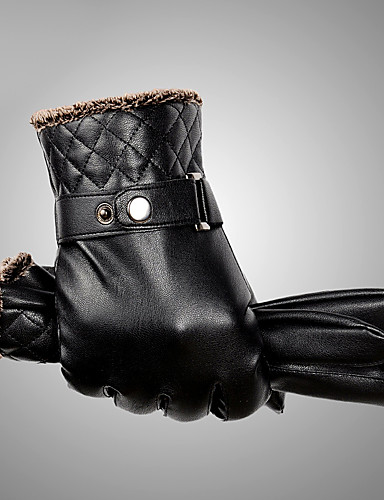 Men's Waterproof / Keep Warm / Windproof Fingertips Gloves - Solid Colored