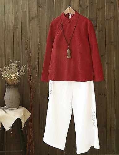 Damen Solide Einfach Niedlich Aktiv Sport Ausgehen Lässig/Alltäglich T-shirt,Rundhalsausschnitt Sommer Herbst Langarm Baumwolle Dünn