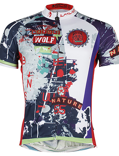 8d4de5716 ILPALADINO Men s Short Sleeve Cycling Jersey Bike Jersey Top Quick Dry  Sports Polyester Coolmax® Eco-friendly Polyester Mountain Bike MTB Road Bike  Cycling ...