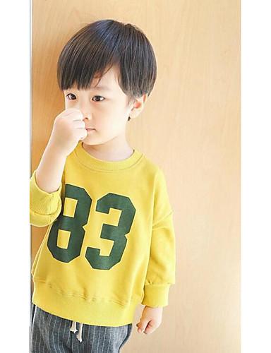 Jungen T-Shirt Druck Baumwolle Polyester Sommer Kurzarm Normal