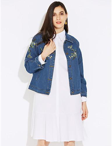 女性用 デニムジャケット-クラシック・タイムレス 純色 フォーマル