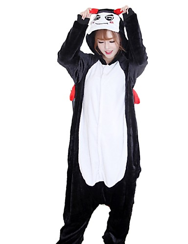 59058588b8 Adults  Cosplay Costume Kigurumi Pajamas Devil Onesie Pajamas Flannel  Fabric Cosplay For Men and Women Animal Sleepwear Cartoon Festival   Holiday  Costumes