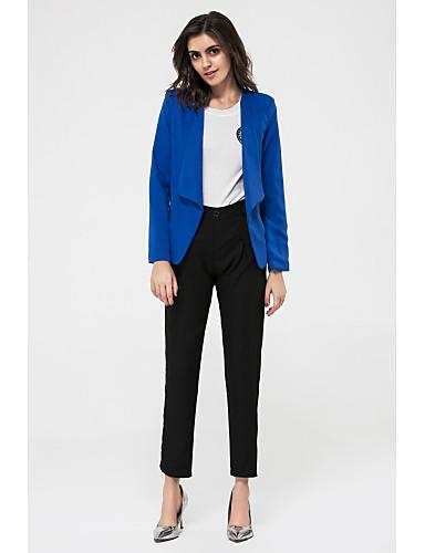 Damen-Solide Blazer,Hemdkragen