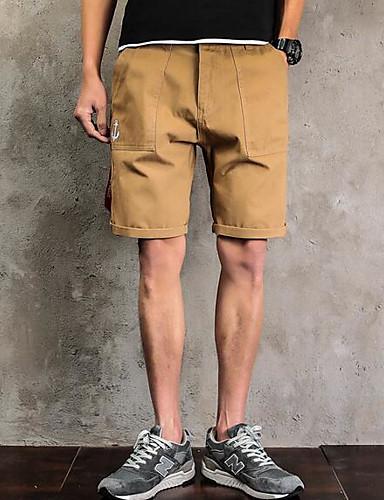 Herren Einfach Mittlere Hüfthöhe Mikro-elastisch Chinos Kurze Hosen Lose Hose Buchstabe