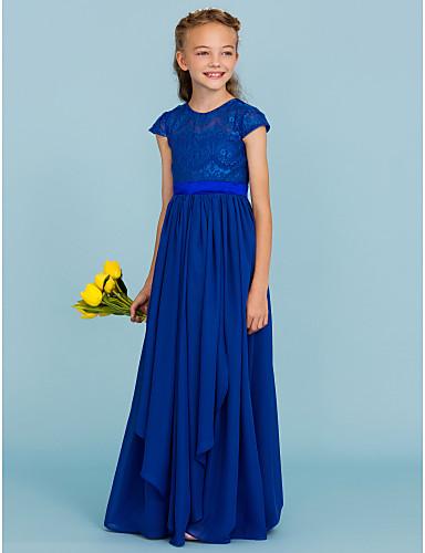 a9080bfc15b play video. Χαμηλού Κόστους Φορέματα για παρανυφάκια-Γραμμή Α / Πριγκίπισσα Στρογγυλή  Ψηλή Λαιμόκοψη ...