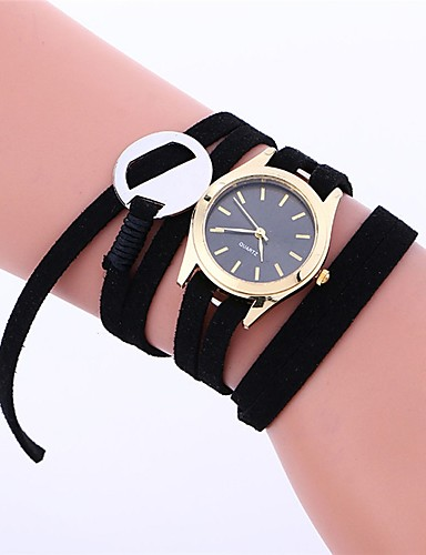 Women's Bracelet Watch Quartz Black / White / Blue Water Resistant / Water Proof Analog Ladies Charm Casual Fashion - Yellow Blue Pink / Stainless Steel