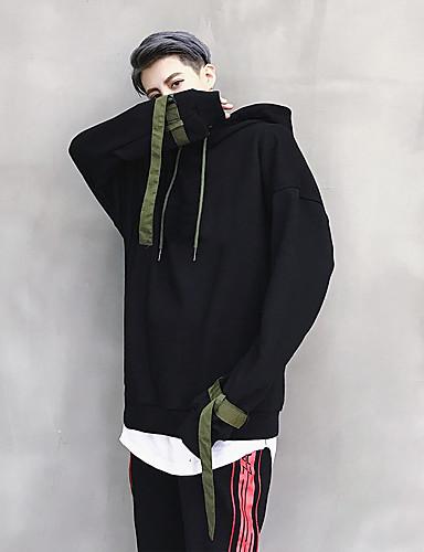 Men's Sports Long Sleeves Hoodie - Solid Colored Hooded