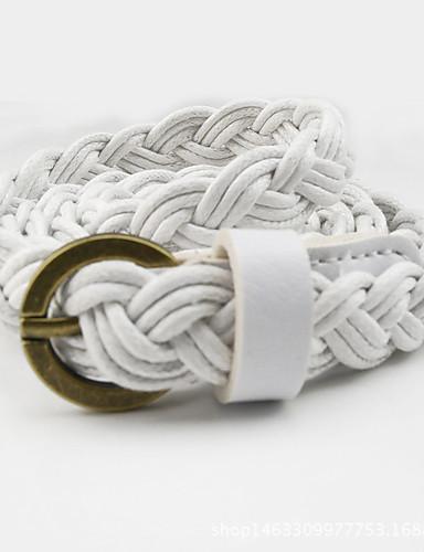 Women's Dress Belt Fabric / Alloy Skinny Belt - Solid Colored Fashion