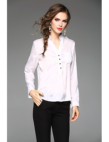 Women's Daily Plus Size Casual Fall Blouse