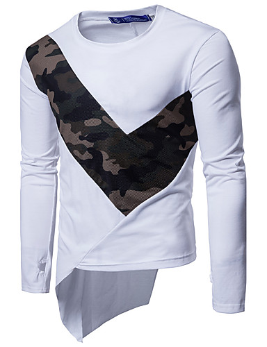 Men's Sports Active Cotton T-shirt - Camouflage Round Neck