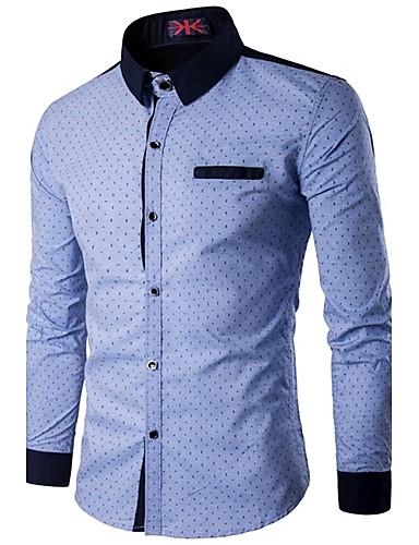 Men's Active Shirt - Polka Dot Standing Collar