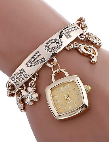 Women's Bracelet Watch Chinese Water Resistant / Water Proof / Creative Stainless Steel Band Charm / Casual / Fashion Silver / Gold