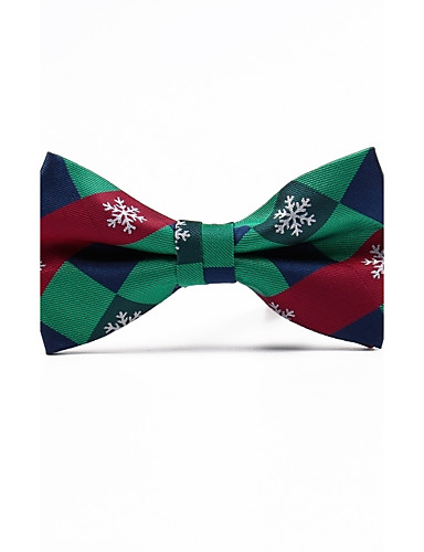 Men's Grid Polyester Bow Tie - Jacquard