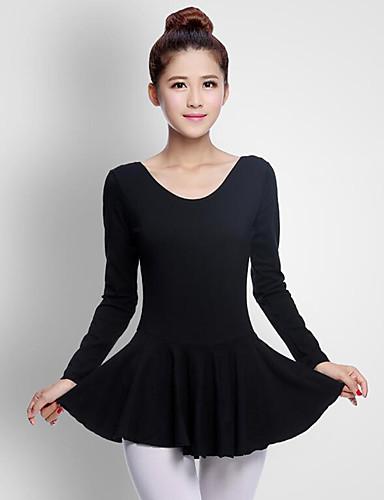 preiswerte Ballettbekleidung-Ballett Damen Leistung Baumwolle Langarm Normal Kleid