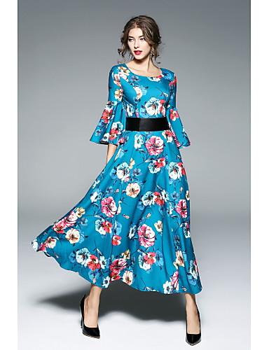SHE IN SUN Women's Street chic Swing Dress - Floral Maxi