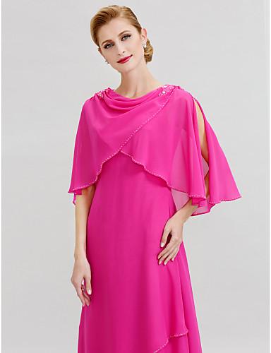 A-vonalú Csuklya Földig érő Sifon Örömanya ruha val vel Gyöngydíszítés által LAN TING BRIDE®