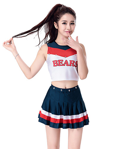 d7ec20f89 Cheerleader Costumes Outfits Women's Performance Polyester Sleeveless  Dropped Skirts Top