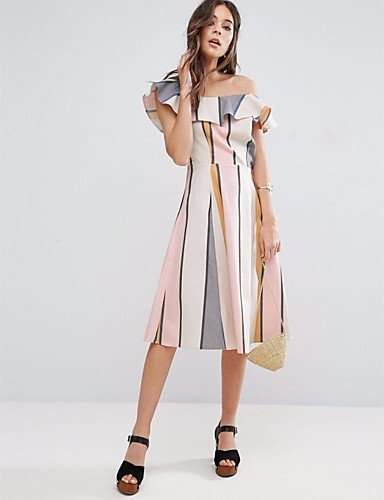 Butterfly Sleeve One Shoulder Dress