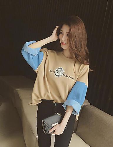 Women's Basic Sweatshirt - Color Block / Fall