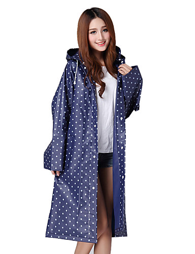 cheap Outdoor Clothing-Women's Polka Dot Hiking Raincoat Outdoor Spring Summer Thermal / Warm Windproof Breathable Rain Waterproof Raincoat Poncho Top Camping / Hiking Hunting Fishing White / Red / Blue Camping & Hiking