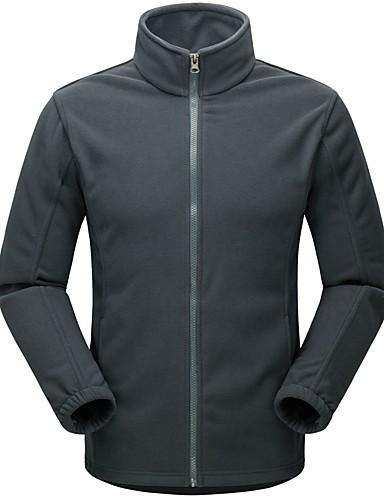 cheap Outdoor Clothing-Men's Women's Hiking Fleece Jacket Outdoor Autumn / Fall Winter Warm Winter Fleece Jacket Fleece Full Length Visible Zipper Camping / Hiking Casual Camping / Hiking / Caving Navy / Royal Blue