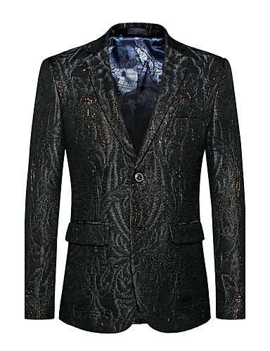 Men's Active Sophisticated Cotton Blazer - Solid Colored Notch Lapel
