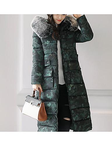 Damen Gefüttert Mantel Niedlich Ausgehen Punkt Druck Einfarbig-Polyester Langarm