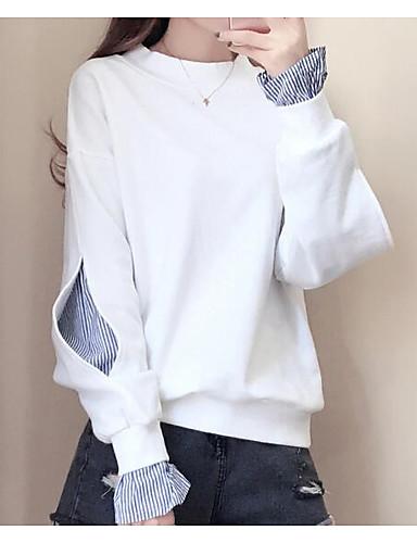 Damen Pullover Lässig/Alltäglich Einfach Solide Baumwolle