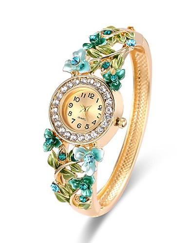 a1cbee1fb Women's Fashion Watch Bracelet Watch Wrist Watch Quartz Chronograph Alloy Band  Analog Casual Bangle Elegant Gold - Green One Year Battery Life / Stainless  ...
