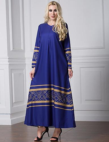 Damen Lose Kleid Geometrisch Maxi / Herbst / Winter