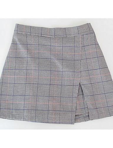 Damen Urlaub Über dem Knie Röcke Muster Frühling Winter
