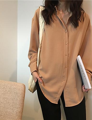 Damen Solide - Aktiv Hemd, Hemdkragen