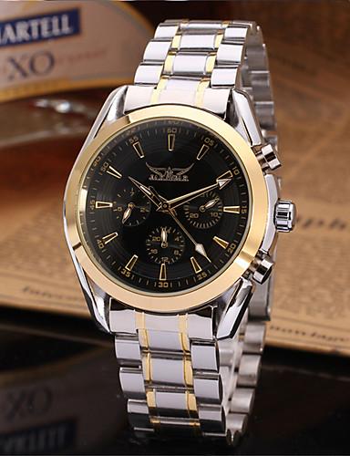 c83ad270114 Jaragar Pánské Náramkové hodinky Automatické natahování Nerez Černá Hodinky  na běžné nošení Cool Analogové Na běžné