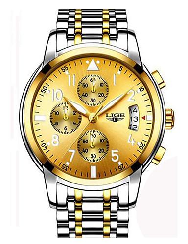 Herrn Quartz Armbanduhr / Armband-Uhr / Militäruhr Japanisch Kalender / Chronograph / Wasserdicht / Großes Ziffernblatt Edelstahl Band