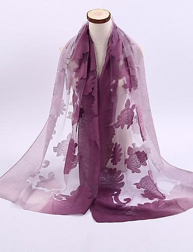 Damen Ganzjährig Leinen Polyester Hidschab, Einfarbig Purpur Fuchsia Leicht Blau Leicht Braun Khaki