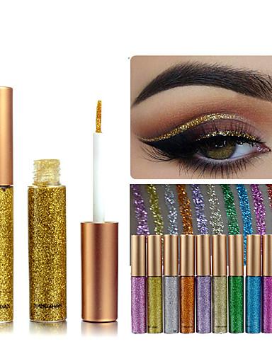 저렴한 아이라이너-1pcs 무지개 색깔 eyeshadow 반짝임 오래 견딘 방수 아이섀도 eyeliner 메이크업