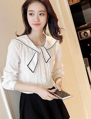Damen Kurz Pullover-Lässig/Alltäglich Solide Ständer Langarm Andere Mittel Mikro-elastisch