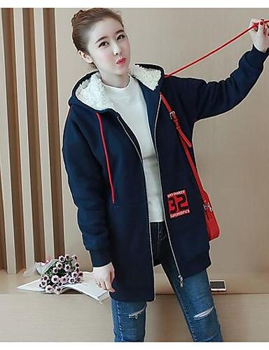 Damen Kapuzenshirt Lässig/Alltäglich Einfach Solide Druck Baumwolle