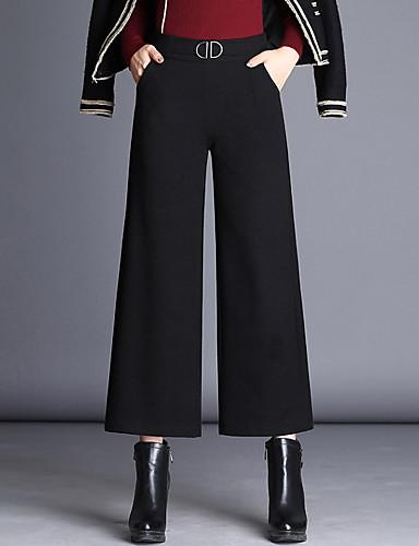 Damen Breites Bein Hose,Polyester Solide