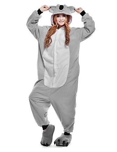 43a40955c671 Adults  Kigurumi Pajamas Koala Animal Onesie Pajamas Polar Fleece Gray  Cosplay For Men and Women Animal Sleepwear Cartoon Festival   Holiday  Costumes