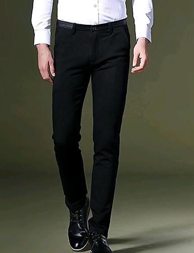 Męskie Puszysta Typu Chino Spodnie Solidne kolory