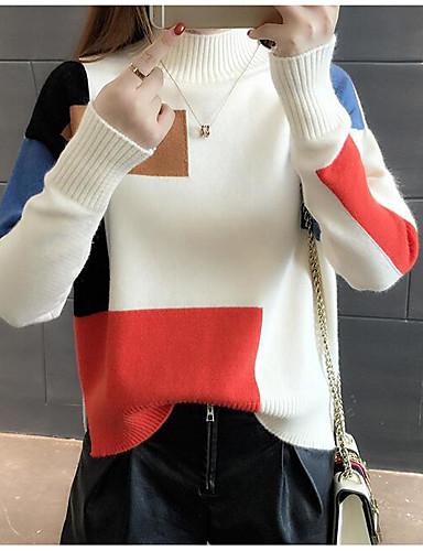 Damen Standard Strickjacke-Lässig/Alltäglich Einfarbig Ständer Langarm Andere Winter Herbst Mittel Mikro-elastisch