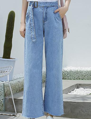 Damen Hose Mikro-elastisch Jeans Hose Solide