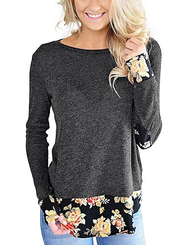 T-shirt Damskie Vintage Boho, Motyw świąteczny Kwiaty Wielokolorowa