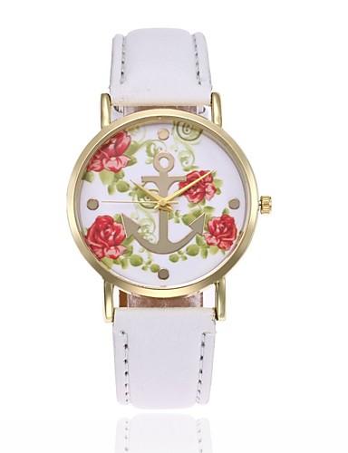 Damen Modeuhr Kleideruhr Armbanduhr Chinesisch Quartz PU Band Freizeit Schwarz Weiß Blau Rot Braun Rosa Lila Fuchsia Gelb